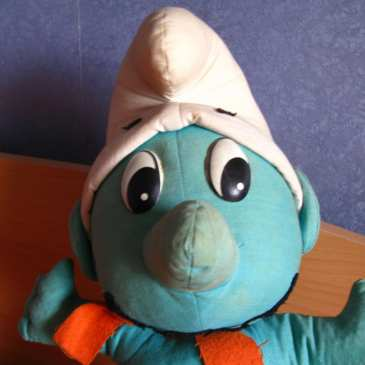 Meet our classic stuffed Smurf