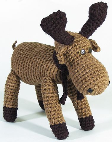 How to make a stuffed crochet moose StuffedParty.com ...