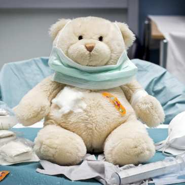 The Teddy Bear Hospital in Dorset, UK is overflowing with work