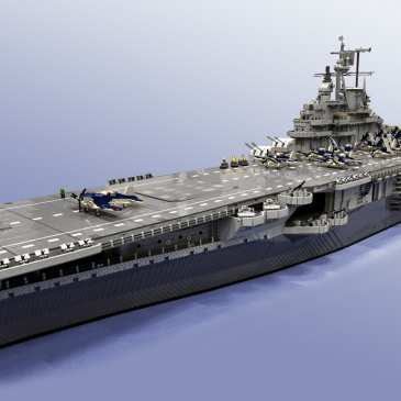 This USS Intrepid aircraft carrier is the largest LEGO ship ever made