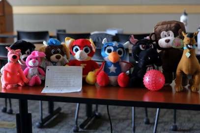 Young boy spends his money on claw machines to get stuffed animals for charity
