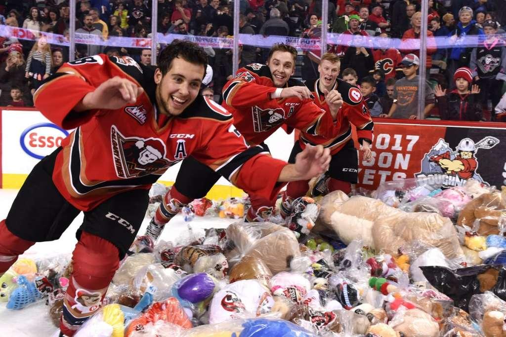 The Calgary Hitmen's Teddy Bear Toss gathered another 24 000 stuffed animals