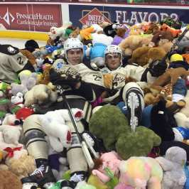 The Hershey Bears' Teddy Bear Toss collected over 20 000 stuffed animals