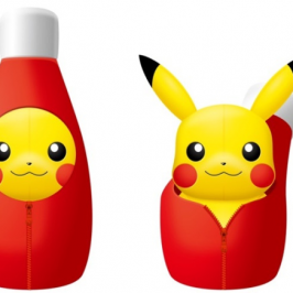 New Pikachu stuffed animal comes in a ketchup bottle