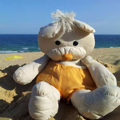 And this teddy comes from Sozopol
