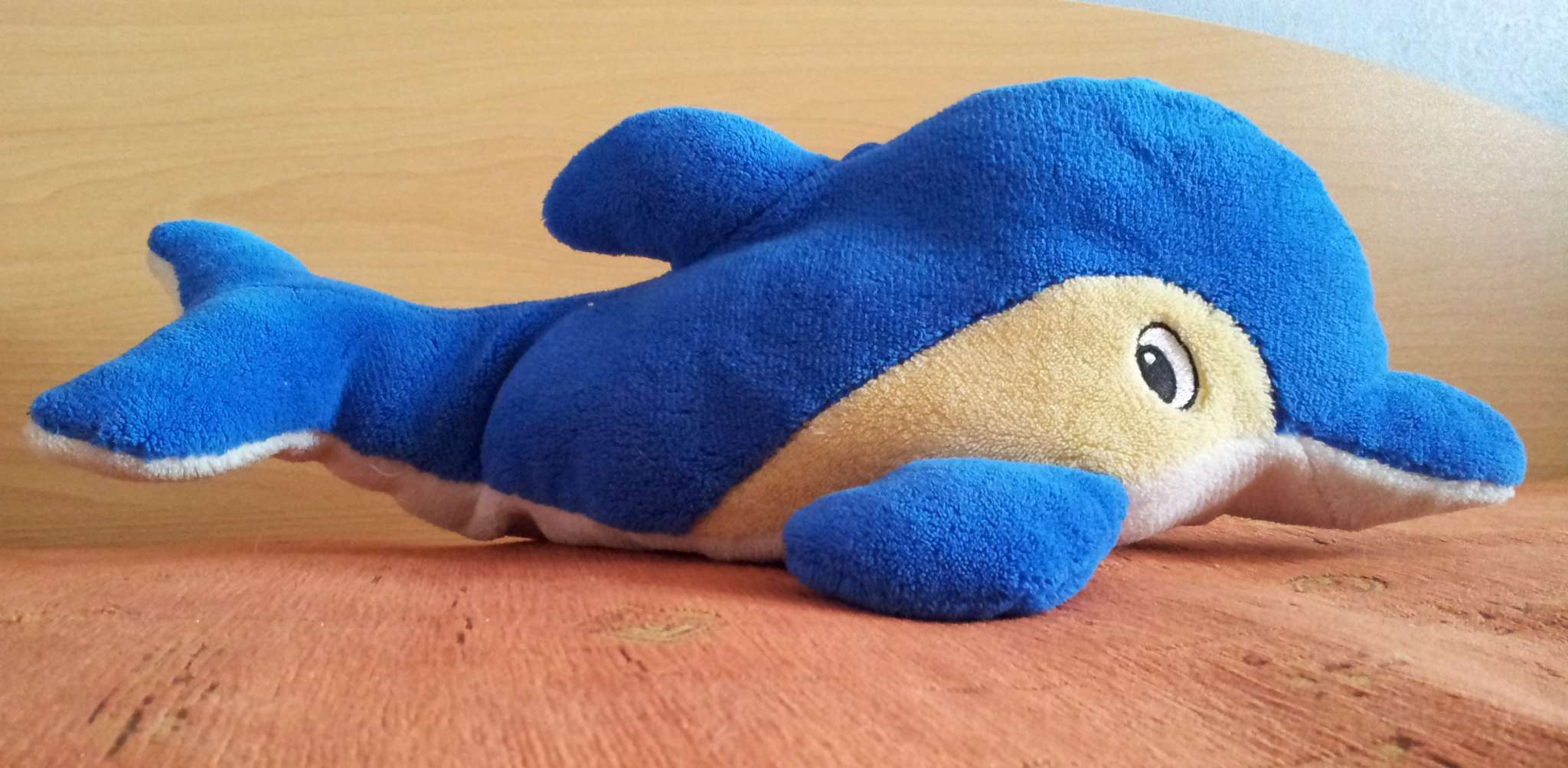 With Embroidering You Can Fill Areas Too For Example The Eyes On This  Dolphin They Are Embroidered You Can Do This With A Simple Straight  Stitch That