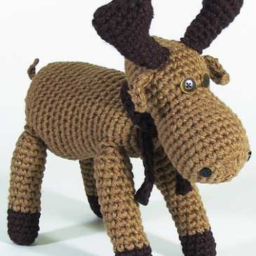 How to make a stuffed crochet moose