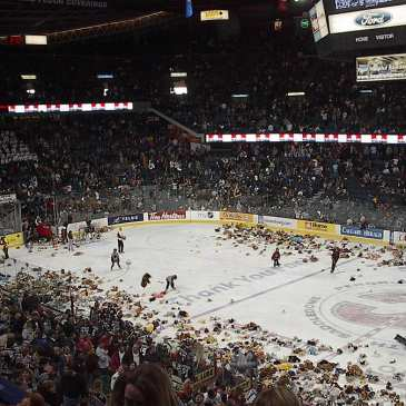 Teddy Bear Toss games kick into high gear
