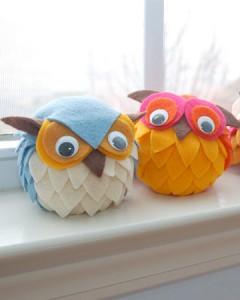 How to make stuffed owls