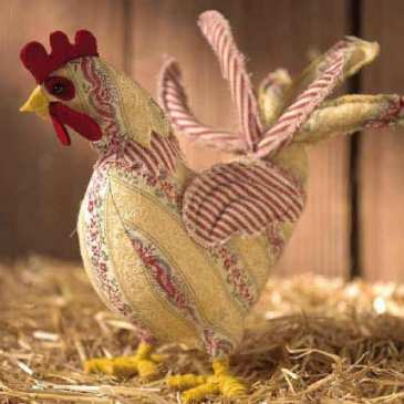 How to make a stuffed rooster