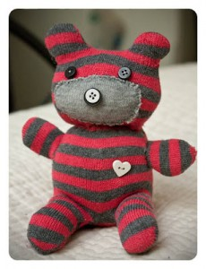 How to make a sock teddy bear