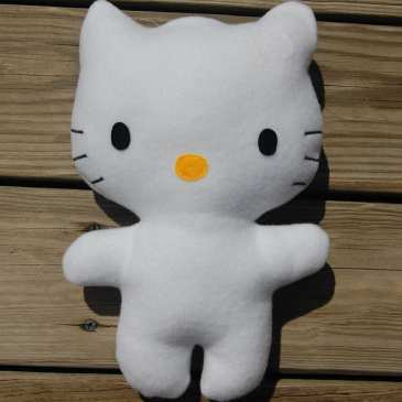 How to make a stuffed Hello Kitty