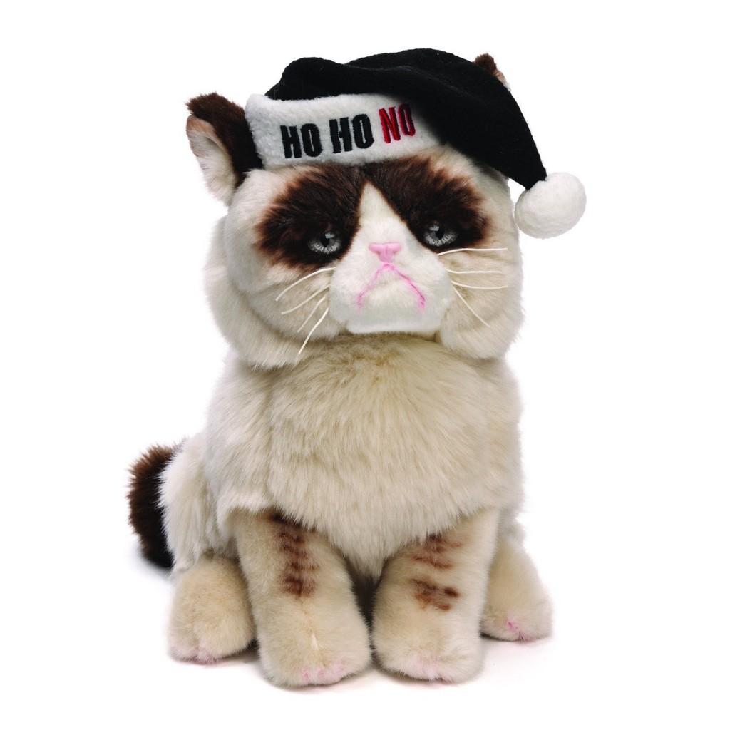 Grumpy cat stuffed animal Christmas edition
