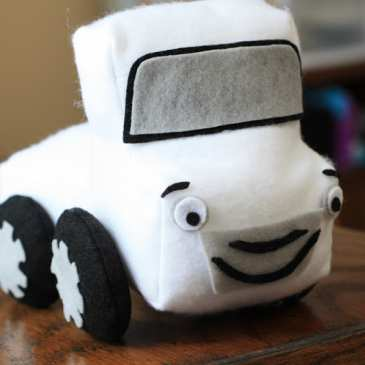 How to make a stuffed pickup truck