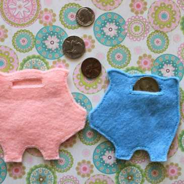 How to make a stuffed piggy bank