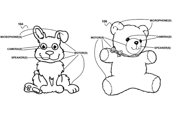 Google patented smart stuffed animals