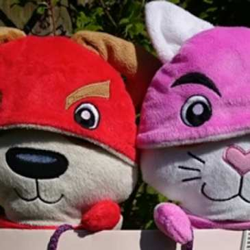 Plushiemorphs are transforming plush superhero cats and dogs