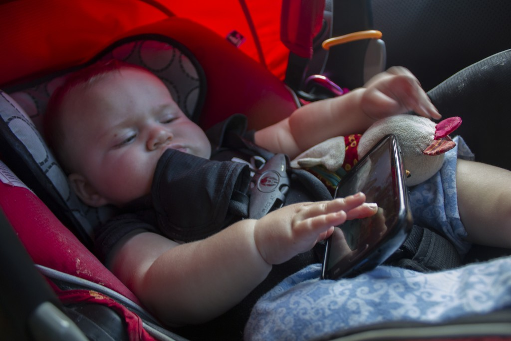 Babies learn to use smartphone before they can talk and walk