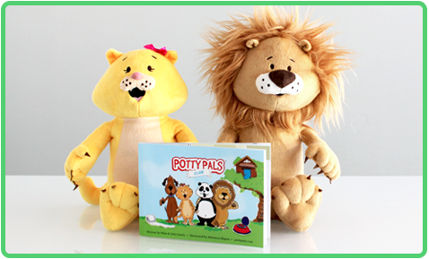 Potty Pals are a unique potty training system with stuffed animals