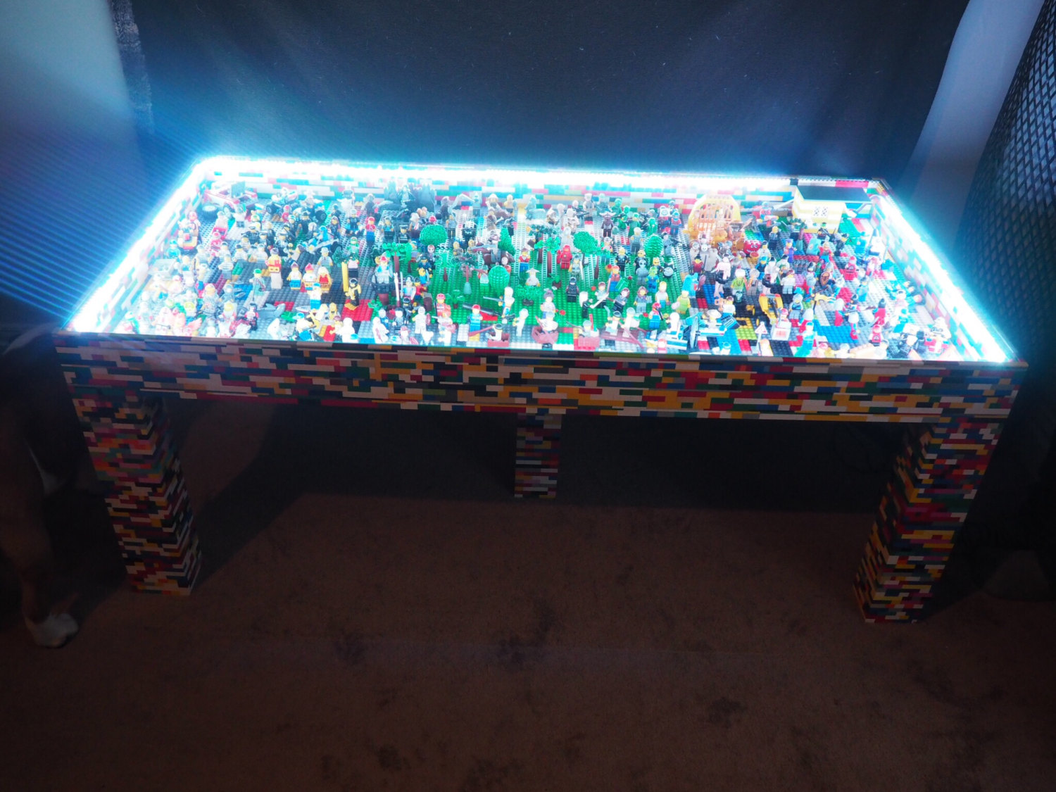 For ex&le this cool LEGO table. The main frame is made from wood and then it is completely covered in LEGO bricks. The glass is removable so you can set ... & A prosthetic arm and four other cool LEGO projects | StuffedParty ...