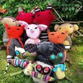 Greenbleez makes stuffed animals from recycled sweaters