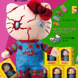 Universal Studios Japan unveiled a Hello Kitty Chucky plush toy