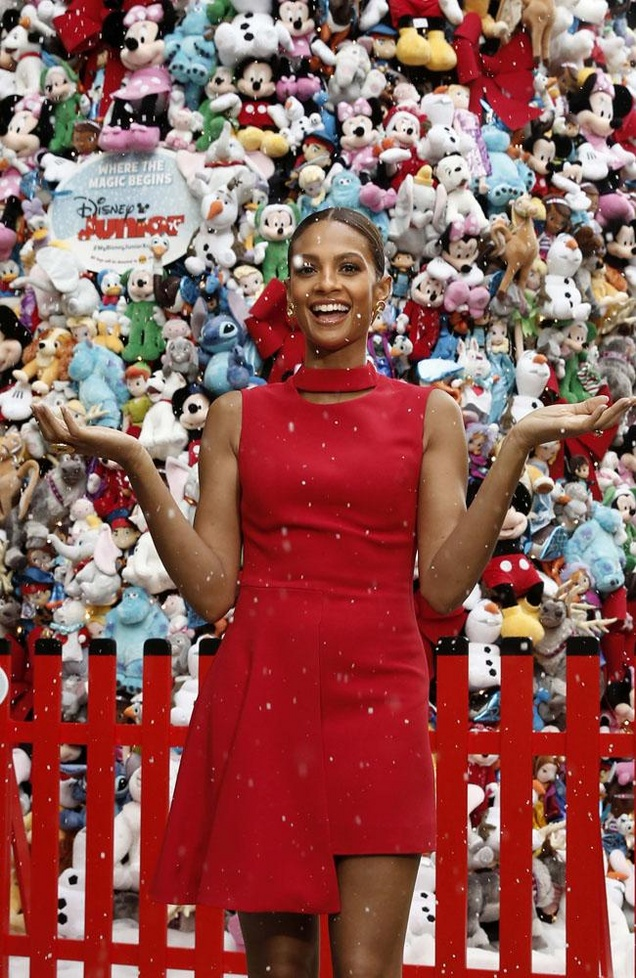 Alesha Dixon unveils the Disney Junior's Christmas tree