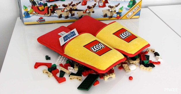 LEGO makes special slippers to ease the pain of stepping on a brick