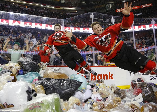 Watch 28 815 stuffed animals set a record for a Teddy Bear Toss
