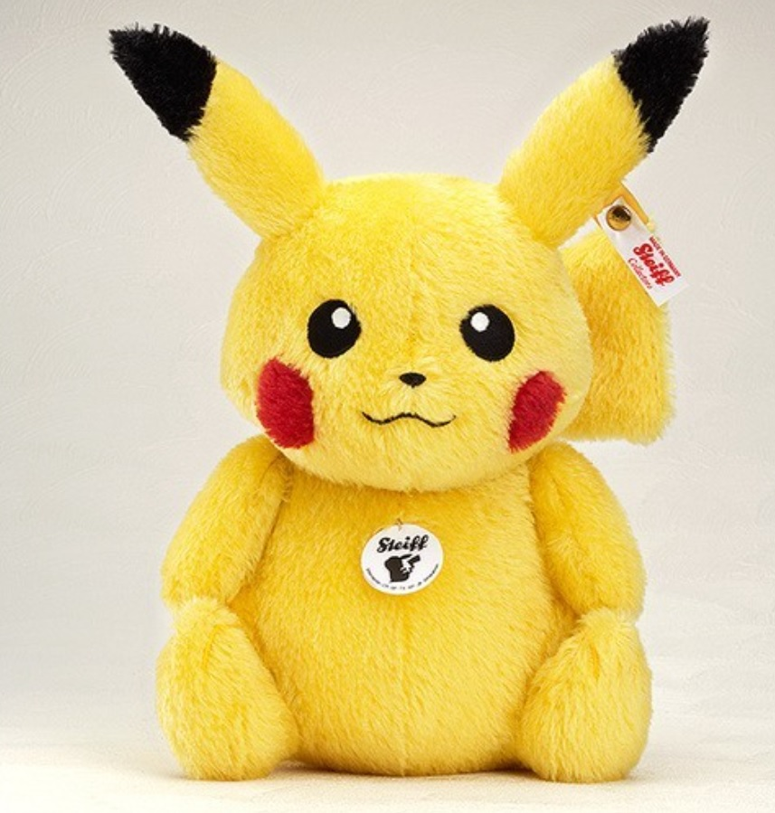 Steiff joins the Pikachu party with their own collector's stuffed animals version
