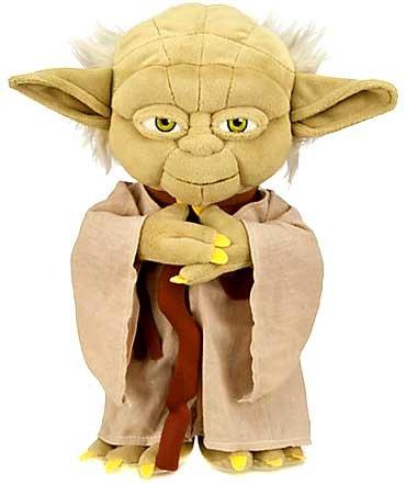 12-inch tall plush Yoda