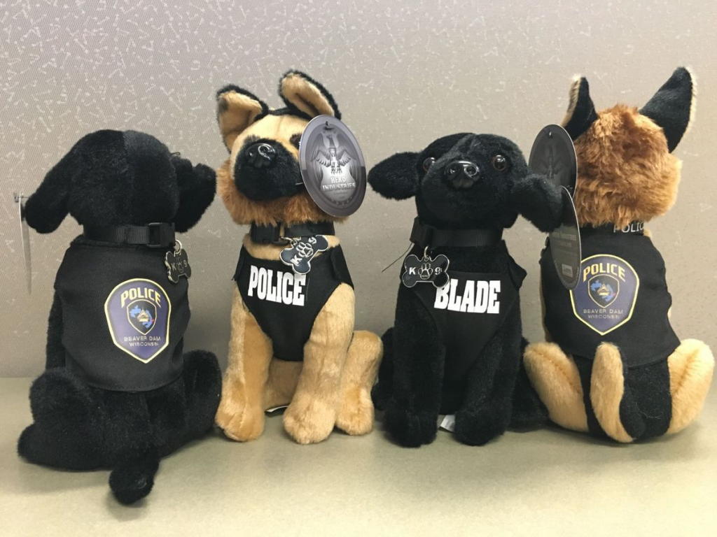 Stuffed animals help The Clovis Police Department re-launch its K-9 unit