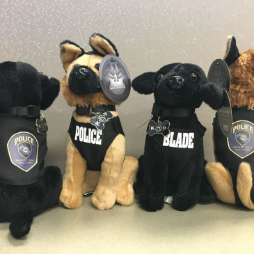 Stuffed animals help The Clovis Police Department re-launch its K-9 unit