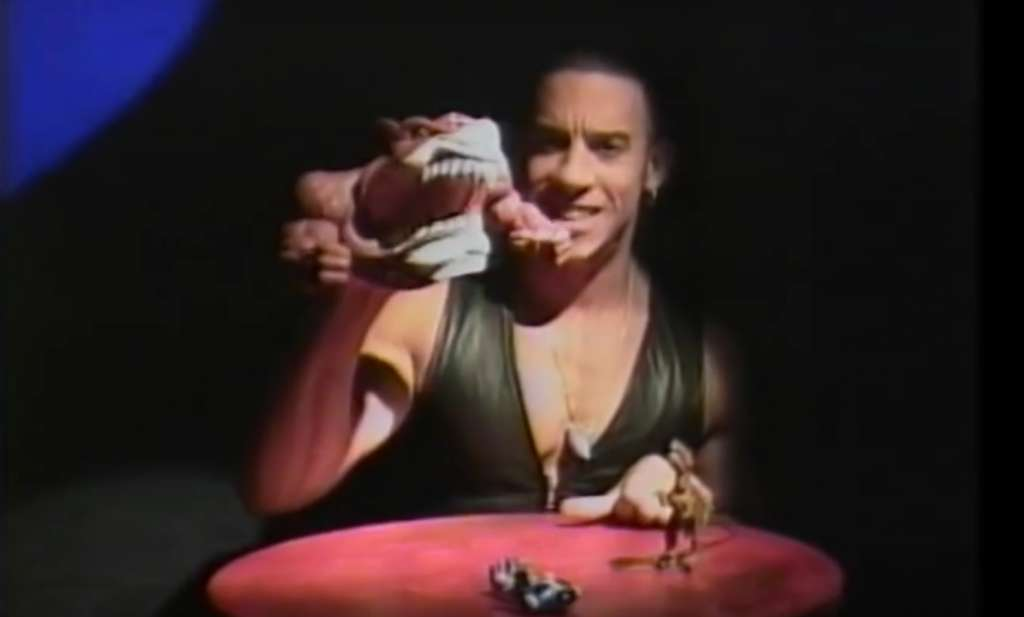Check out Vin Diesel promoting old school toys back in 1994
