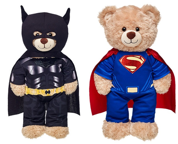Build-A-Bear announces Batman and Superman teddy bears