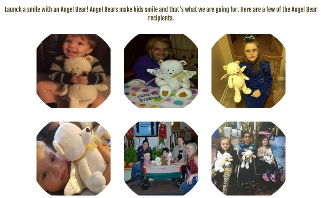Angel Bears of Hope gives stuffed animals to seriously sick people