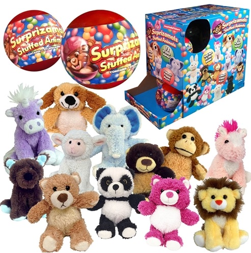 Surprizamals are new stuffed animals that come in surprise balls