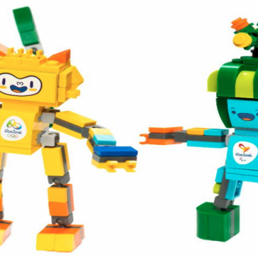 LEGO unveiled its first ever playsets for Olympic mascots for Rio 2016