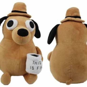 "The ""This is fine"" meme dog finally gets its own stuffed animal"