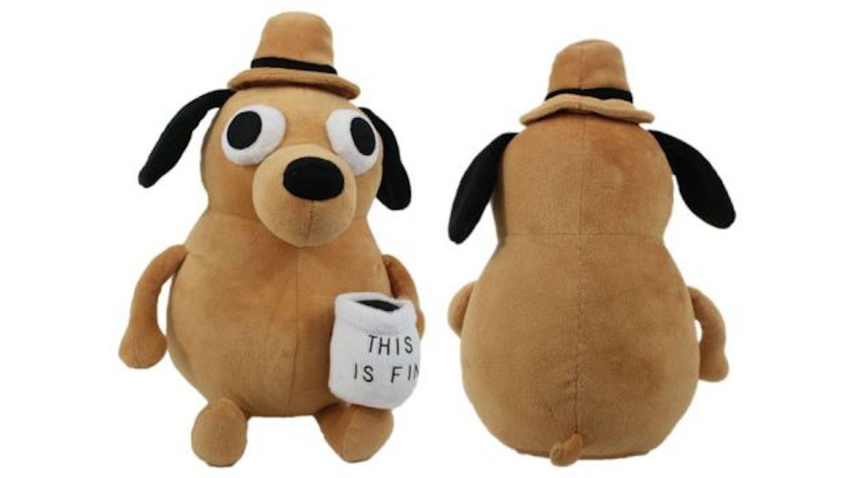 This Is Fine Dog Stuffed Animal, The This Is Fine Meme Dog Finally Gets Its Own Stuffed Animal Stuffedparty Com The Community For Stuffed Toys