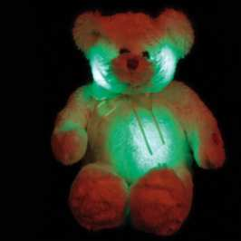 A glowing teddy bear also makes the Christmas wish list