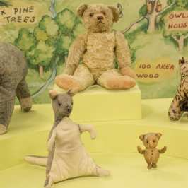 The original Winnie the Pooh teddy bear and his friends are back in the NYC Library