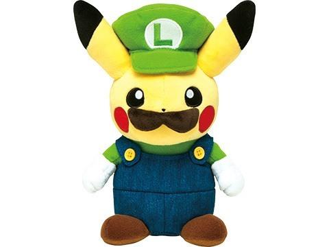 Pikachu as Luigi