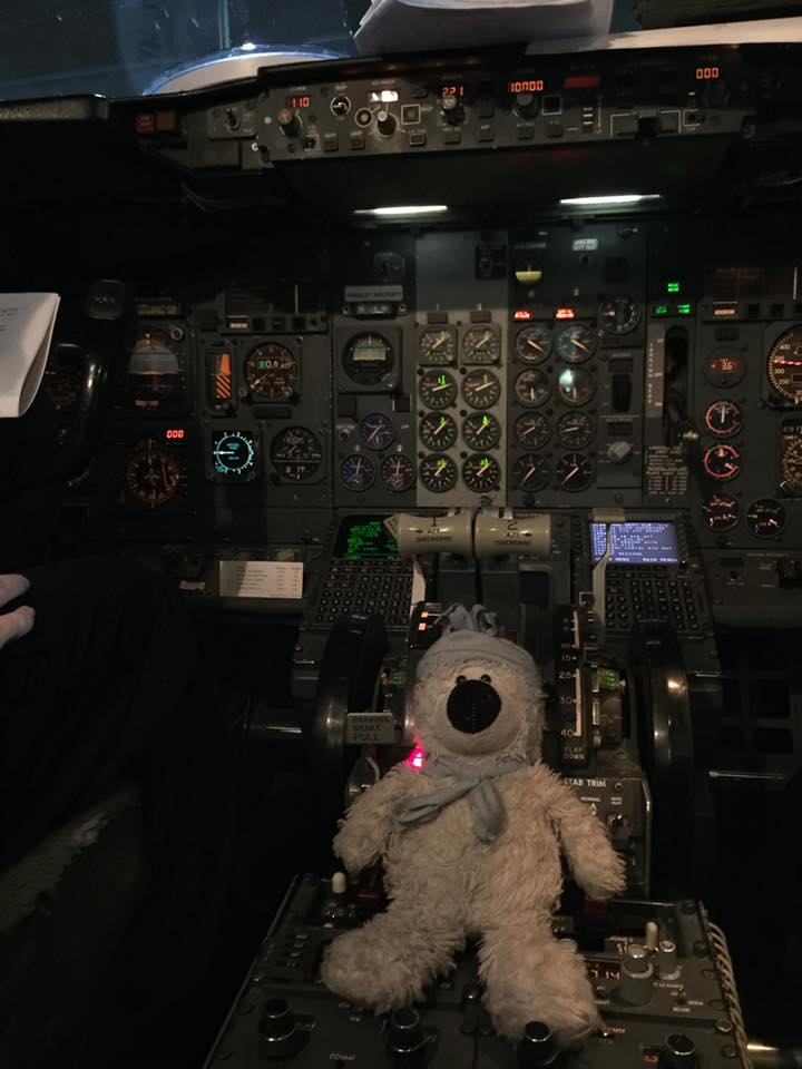 A lost teddy bear took a big tour of the Detroit Metropolitan Airport