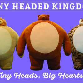 The Tiny Headed Kingdom line of stuffed animals debuts in the US