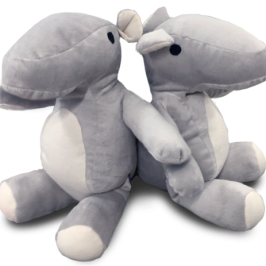 The Parihugs are connected stuffed animals that send hugs