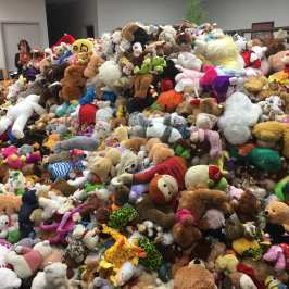 The Stockton Heat held the first Teddy Bear Toss of the year
