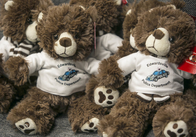 The Police in Edwardsville received special new teddy bears to comfort children