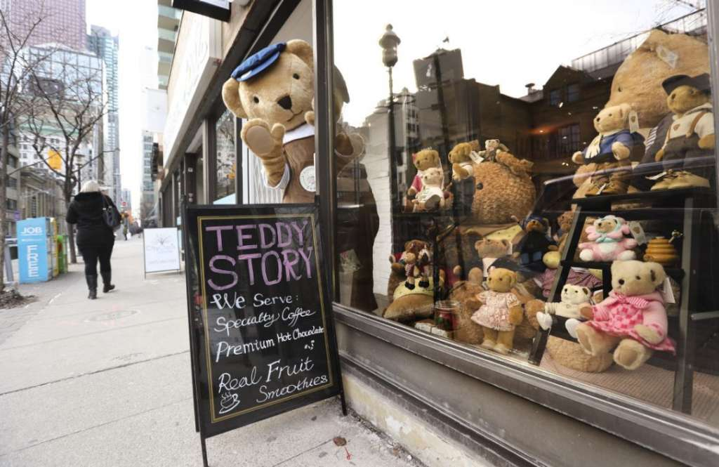 There's now a Teddy Bear Coffee shop in Toronto