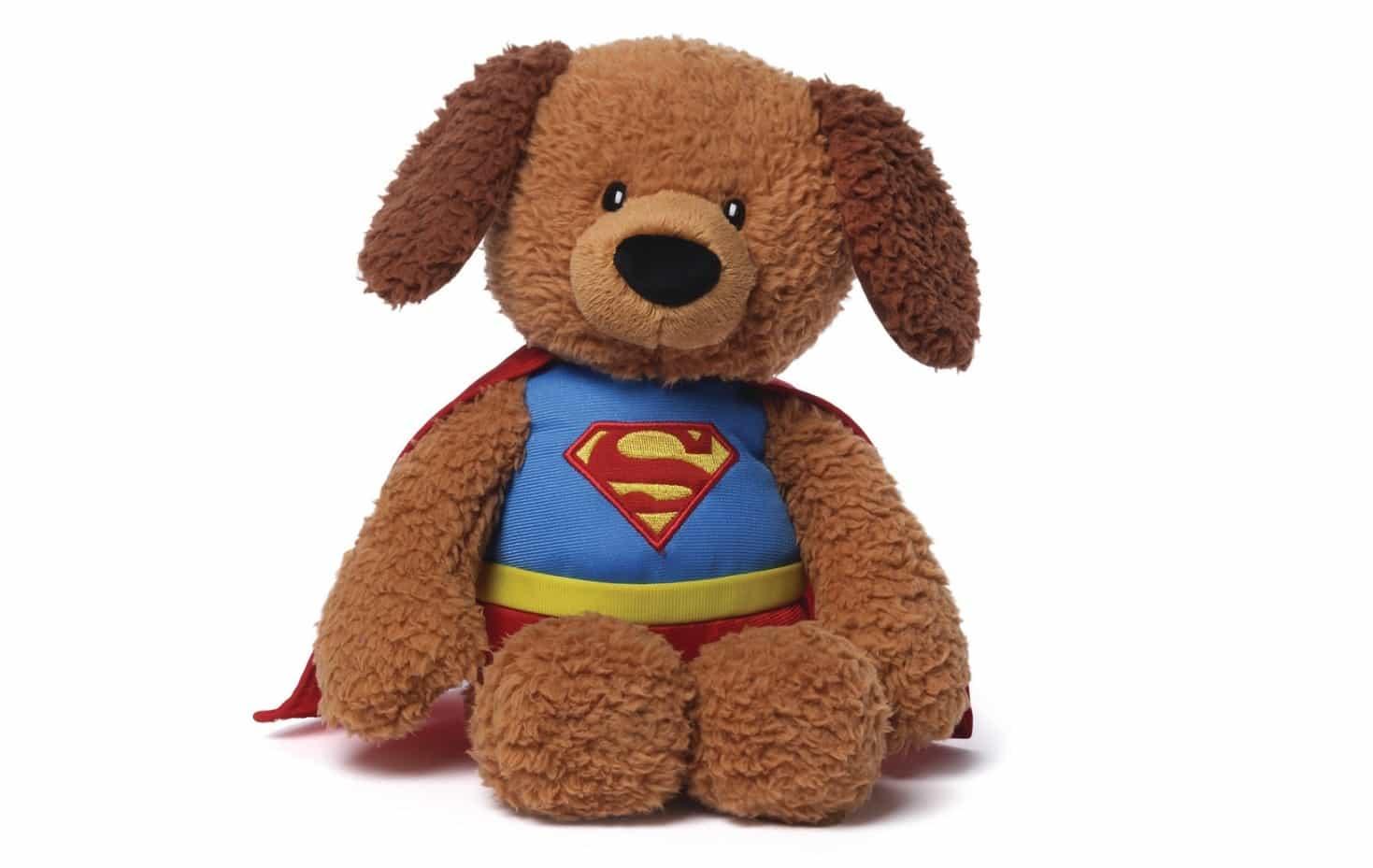 Plush Stuffed Toys : Five cute stuffed animals dressed as superheroes